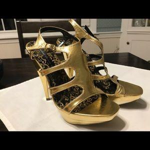 Michael Antonio metallic heels